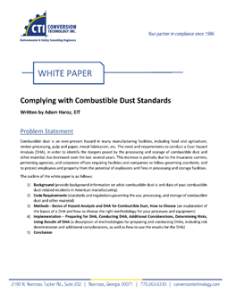 WHITE PAPER: Complying With Combustible Dust Standards